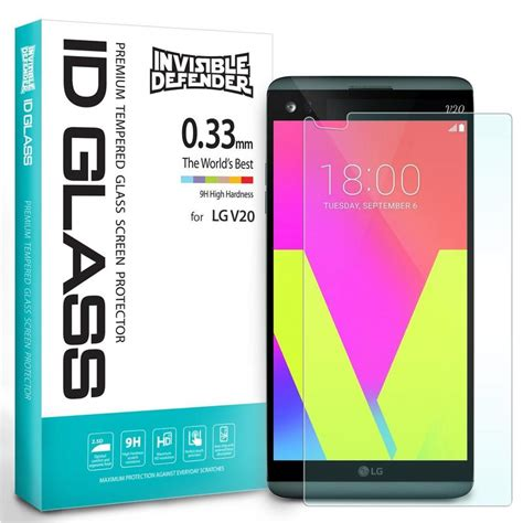 Rearth Ringke Invisible Defendef Lg V30 Screen Protector lg v20 ringke 174 invisible defender 0 33mm tempered glass screen pr