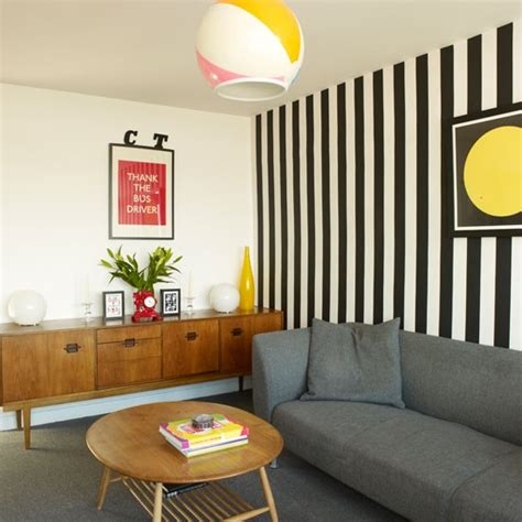 Striped Wallpaper Living Room Ideas by Ways To Decorate Small Living Rooms Small Living Room Design Ideas Housetohome Co Uk