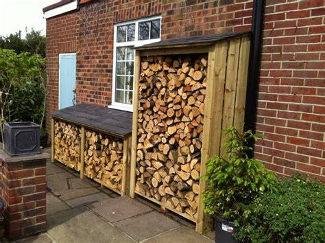 Storing Firewood In Garage by Firewood Storage For Back Garage Entrance Home Outdoor