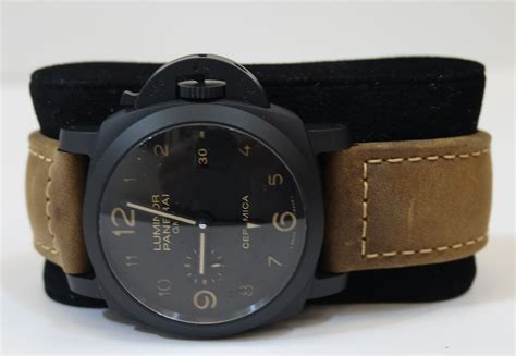 Luminor Panerai Gmt Leather panerai luminor brown leather mens pam00441 panerai