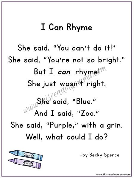 year 1 poems with pattern and rhyme i can rhyme a silly rhyming poetry pack