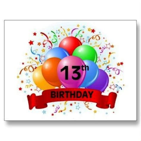 Birthday Card For 13 Year Birthday Wishes For Thirteen Year Old Wishes Greetings