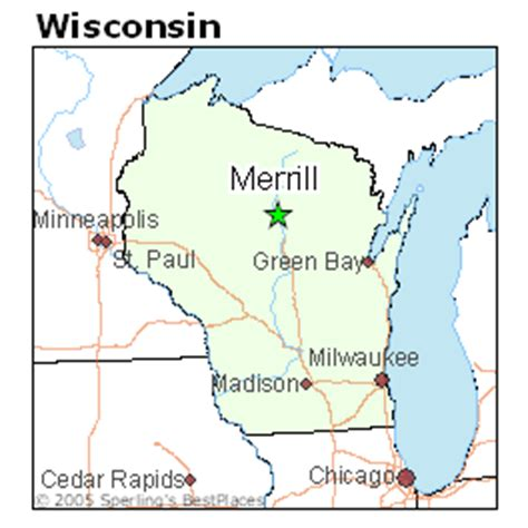 places    merrill wisconsin