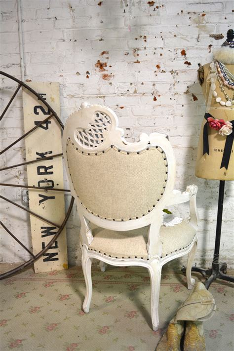 shabby chic upholstered chairs painted cottage chic shabby upholstered tufted arm