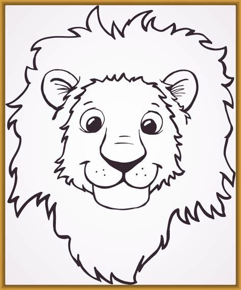 imagenes de leones fasiles imagenes de leones para colorear e imprimir archivos
