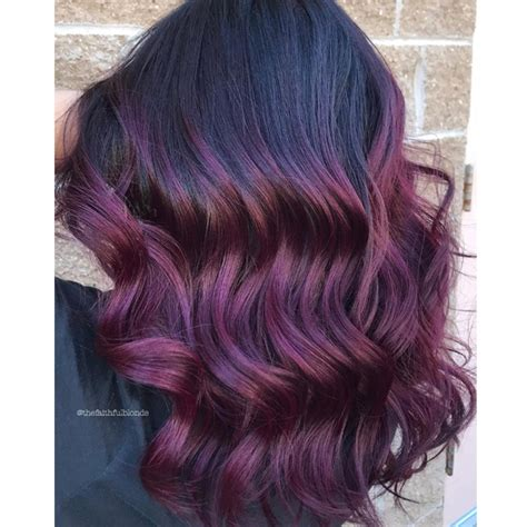 formula for purple hair deep plum balayage behindthechair com