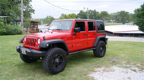 lifted jeep red annarosaindennimeo lifted red jeep wrangler unlimited images