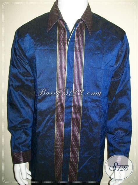 Kemeja Executive Xl kemeja tenun sby untuk petinggi partai dan executive muda warna biru elegan lp981nf xl