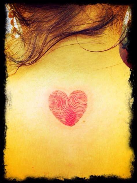 thumbprint heart tattoo my and fingerprint tattoos