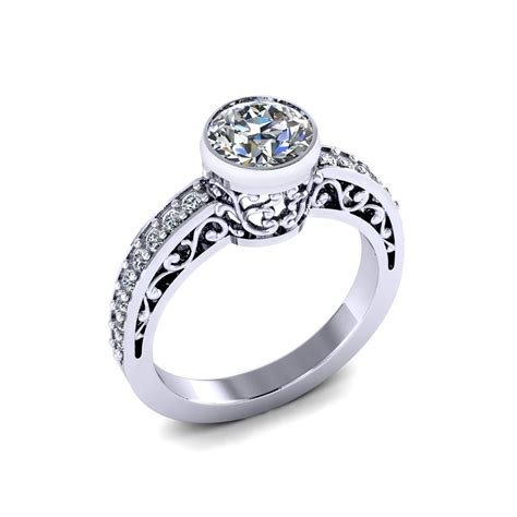 Eheringe Filigran by Filigree Bezel Engagement Ring Jewelry Designs