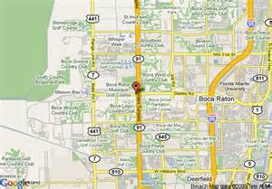 where is boca raton on the florida map map of inn west boca raton boca raton