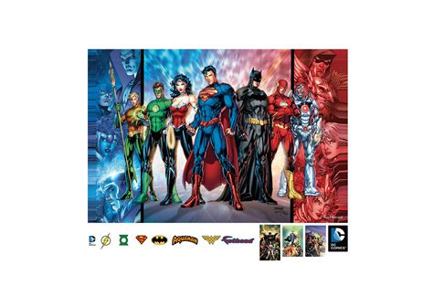 justice league wall stickers justice league mural wall decal shop fathead 174 for