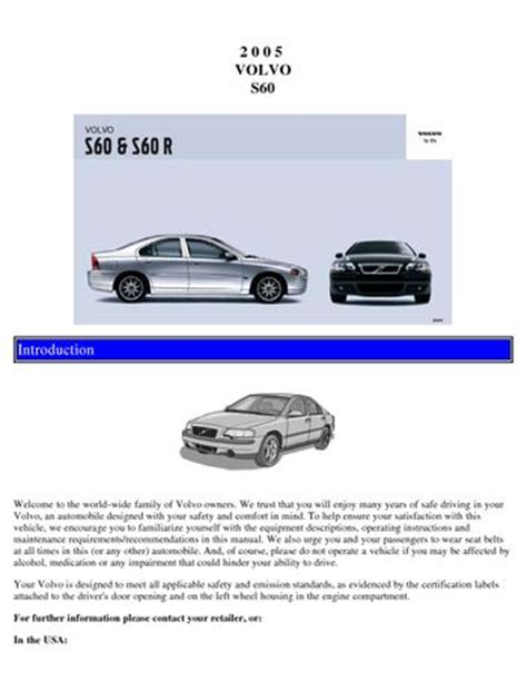 2002 volvo s60 owners manual pdf 28 2005 volvo s60 owners manual 22761 volvo s60