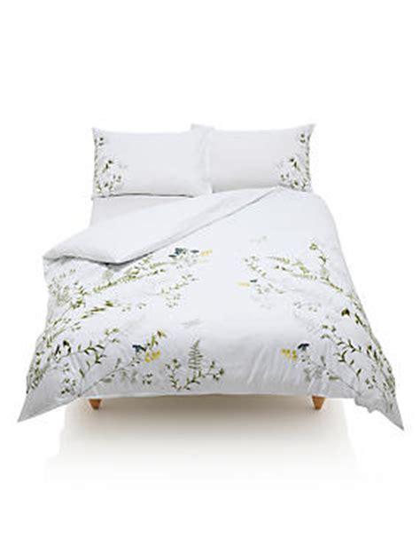 Marks And Spencer Duvet Cover Botanical Embroidered Bedding Set