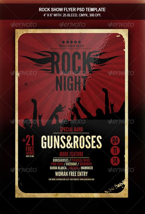 rock flyer template rock show flyer template by retrobox graphicriver
