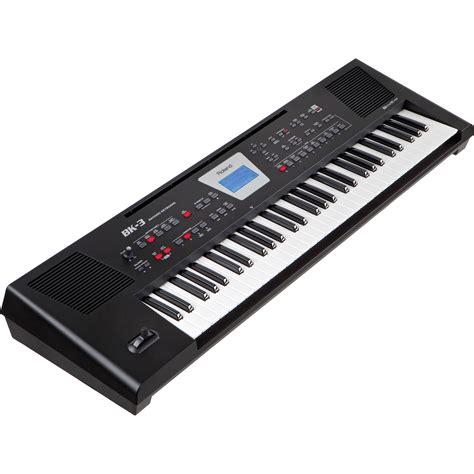 roland bk  backing keyboard black bk  bk bh photo video