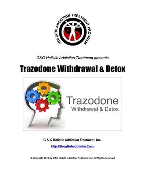 Withdrawal Detox Diet by This Special Report Discusses Trazodone Withdrawal And