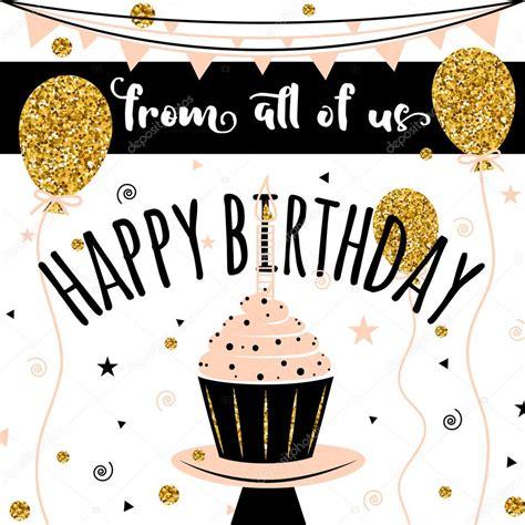 birthday card from all of us template tarjeta de vector de feliz cumplea 241 os fondo con globos de