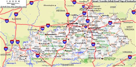 kentucky highway map with counties map of kentucky america maps map pictures