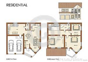 free house projects residential house plan royalty free stock photos image 25641288