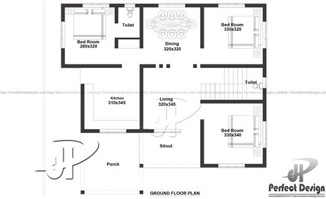 ground floor plan for 1000 sq feet 1000 sq ft single floor home kerala home design