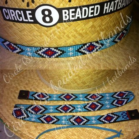 circle 8 beaded hat bands beaded hat band circle 8 beaded hatbands quot one more to