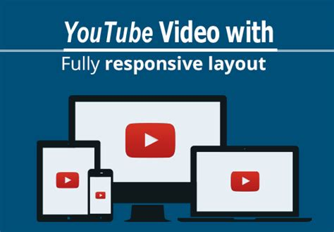 responsive layout youtube embed how to embed a responsive youtube video on your website