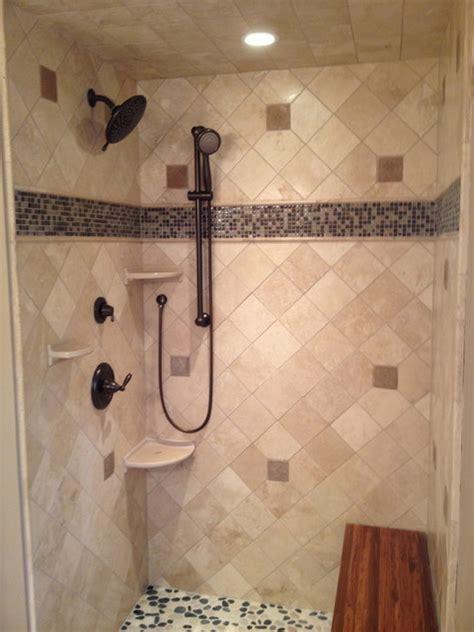 travertine glass shower contemporary bathroom