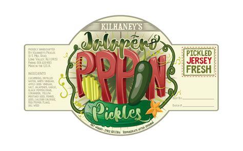 Kilhaney S Pickle Label Design On Behance   kilhaney s pickle label design on behance