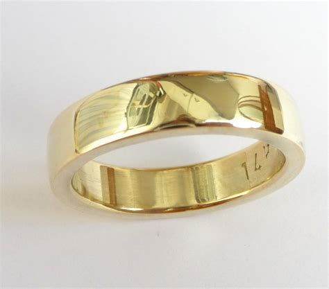 mens wedding ring gold mens wedding band s gold ring wedding ring thick