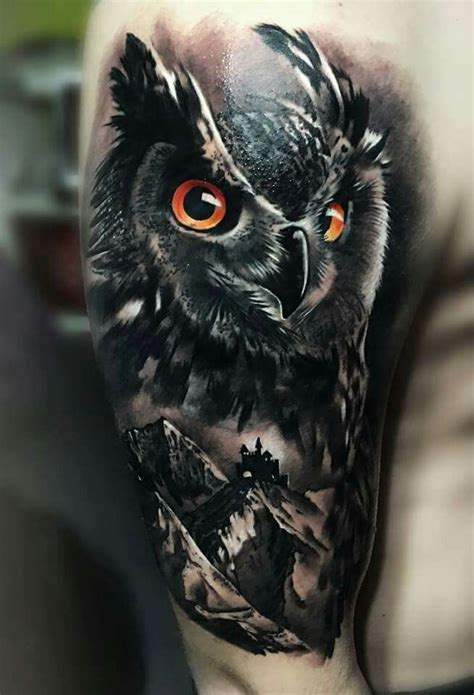 realistic owl tattoo design αποτέλεσμα εικόνας για realistic owl tattoos tattoos