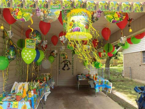 Plants Vs Zombies Birthday Decorations by Plants Vs Zombies Birthday Ideas Photo 3 Of 21