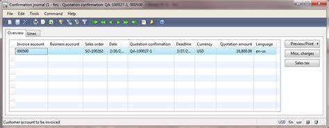 Confirmation Letter Quotation Sales Process Bank Reconciliation Collection Letter Interest Notes Dynamics Ax