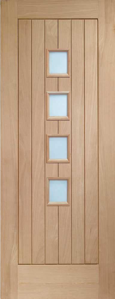 Oak Interior Doors With Glass Oak Palermi Clear Glass Door