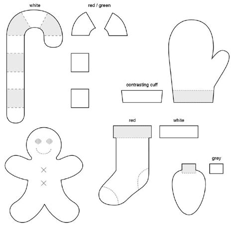 felt templates for free felt patterns for ornaments