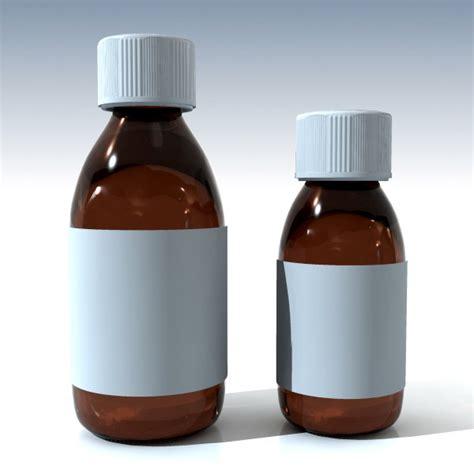 itrabat expectoran syrup 1 botol 3d glass syrup bottles model