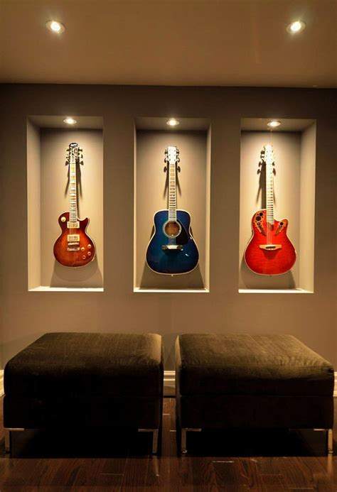 Guitar Room Ideas by Breathtaking Guitar Wall Hanger Decorating Ideas