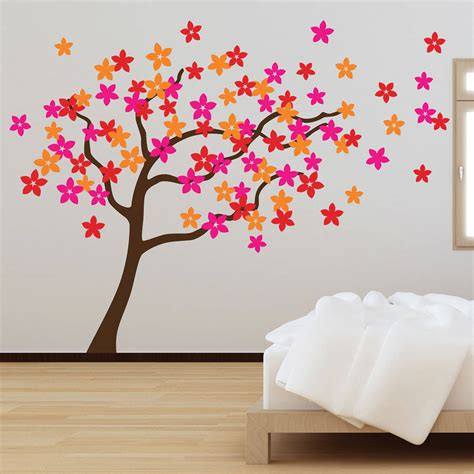 flower wall stickers flower tree wall stickers by the binary box