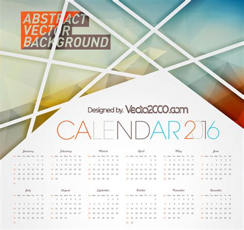 design vector calendar 2016 calendar 2016 free vector for free download vecto2000 com