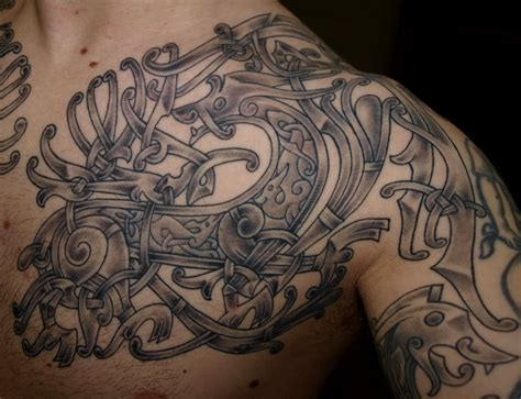 celtic chest tattoos designs viking images designs