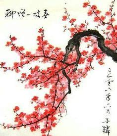 cherry blossom grasses moon and plum blossom painting japanese geishas parasols and fans art exam on
