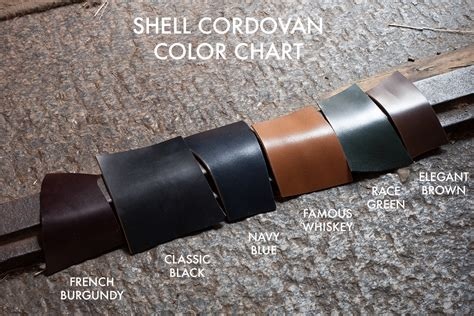 what color is cordovan leather review italian shell cordovan makesupply