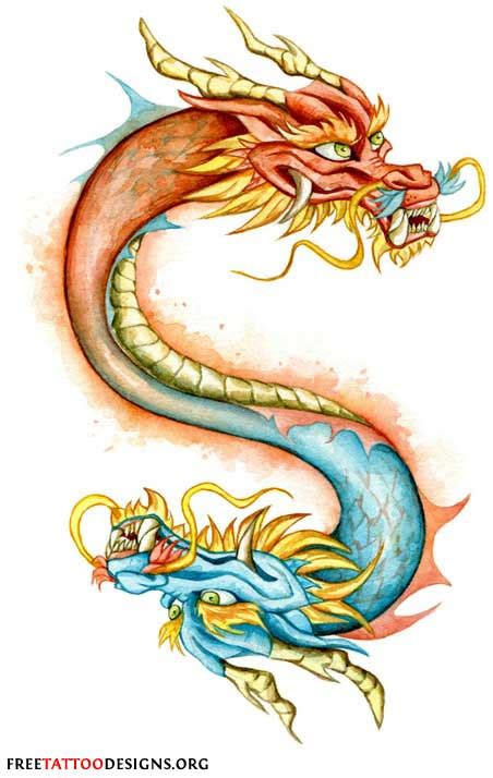 two headed dragon tattoos designs gallery