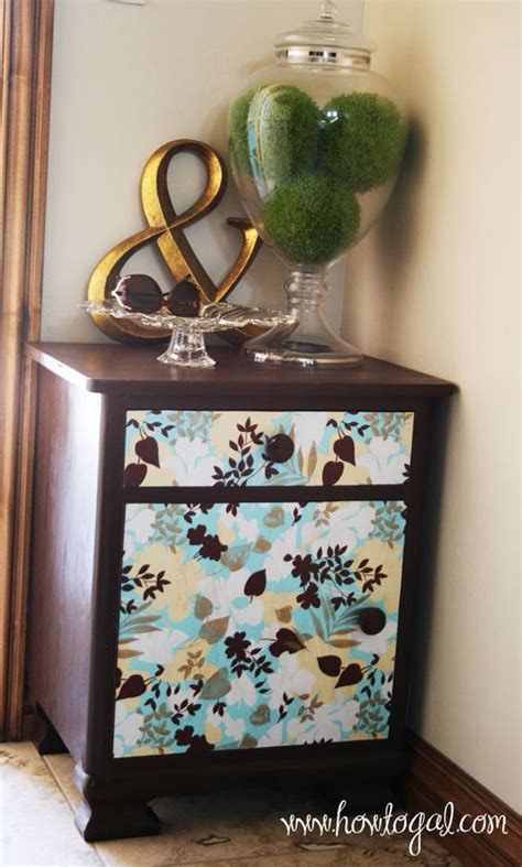Mod Podge Dresser Ideas by Who Says You Can T Mod Podge Paper To Furniture Home
