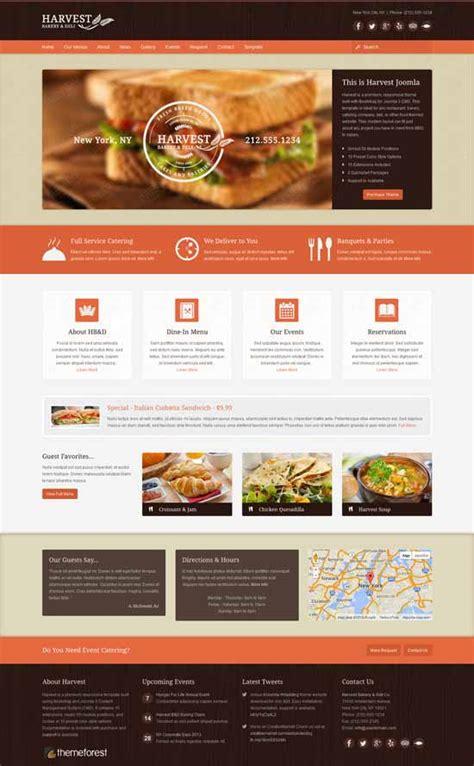 theme joomla restaurant top ten joomla templates for restaurant and caf 233 website