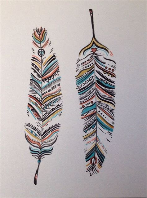 tribal watercolor feathers little things i like