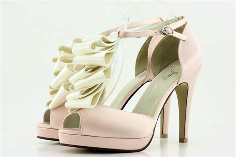 light pink ivory silk ruffle heel wedding dress from
