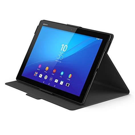 Flip Cover Tablet Advan T1j new official sony xperia z4 tablet flip folio style cover stand scr32 black ebay