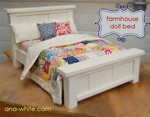 doll beds white doll farmhouse bed diy projects