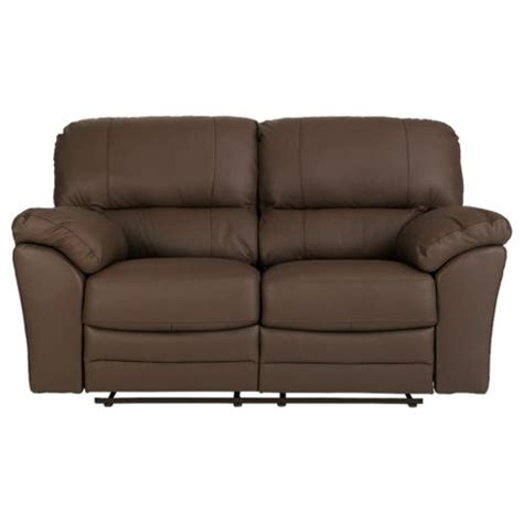 small leather recliner sofa buy madrid small 2 seater leather recliner sofa brown